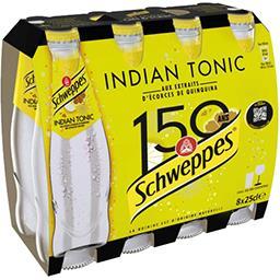 Schweppes Schweppes Indian Tonic - Soda à l'extrait d'écorces de quinquina les 8 bouteilles de 25 cl