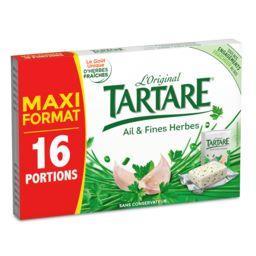 Tartare Tartare Fromage ail et fines herbes l'Original les 16 portions de 15,63 g - Maxi Format