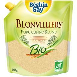 Béghin Say Béghin Say Blonvilliers - sucre en poudre brut non raffiné, blond de canne BIO le paquet de 500g