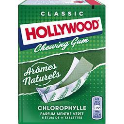 Hollywood Hollywood Chewing-gum tablettes chlorophylle les 5 étuis de 31 g