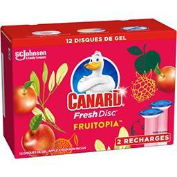 Canard Canard Fresh Disc - Disque de gel Fruitopia les 2 recharges de 36 ml