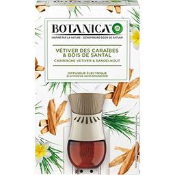Botanica - Diffuseur électrique vétiver des Caraïbes & bois de Santal