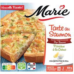 Marie Marie Tarte au saumon et poireaux à la crème - Pâte feuilletée Pur Beurre la boîte de 400g