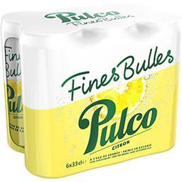 Pulco Pulco Soda Fines Bulles citron les 6 canettes de 33 cl