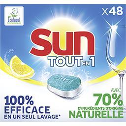 Sun Sun Tout-En-1 tablettes lave vaisselle citron la boîte de 48 tablettes