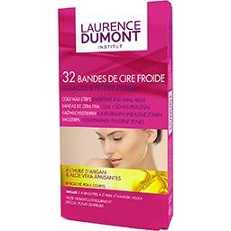Laurence Dumont Laurence Dumont Bandes de cire froide sourcils et petites zones la boite de 32 bandes + 4 lingettes