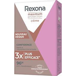 Rexona Rexona Anti-transpirant crème Maximum Protection Confidence le roll-on de 45 ml