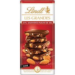 Lindt Lindt Les Grandes - Chocolat noir 31% amandes fleurs de sel la tablette de 150 g
