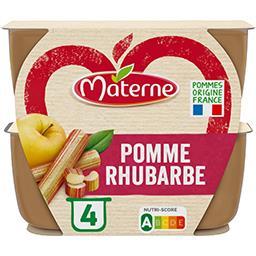 Materne Materne Compote pomme rhubarbe les 4 pots de 100 g