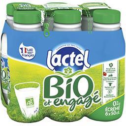 Lactel Lactel Lait écrémé BIO U.H.T les 6 bouteilles de 50 cl