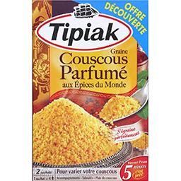 Tipiak Tipiak Graine couscous parfumé aux épices du monde les 2 sachets de 255 g