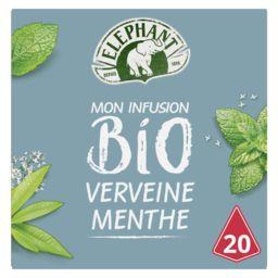 Lipton Eléphant Mon Infusion BIO verveine menthe la boite de 20 sachets - 26 g