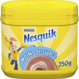 Nestlé Nestlé Chocolat Nesquik - Chocolat en poudre moins de sucres la boite de 350 g