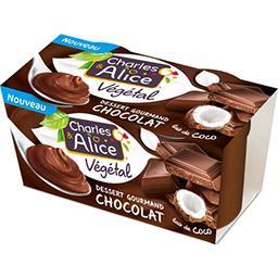 Charles & Alice Charles & Alice Dessert végétal chocolat et lait de coco les 2 pots de 110 g