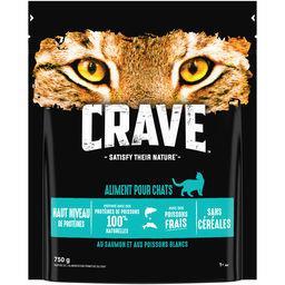 Crave Crave Croquettes au saumon & aux poissons blancs pour chats le sac de 750 g