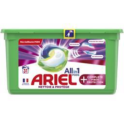 Ariel Ariel Lessive en capsules All in 1 pods + complete fiber protection La boîte de 31 lavages