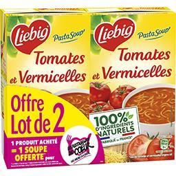 Liebig Liebig Soupe tomates et vermicelles le lot de 2 briques de 1 l