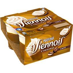 Nestlé Nestlé Le Viennois - Dessert lacté au café L'Original les 4 pots de 100 g