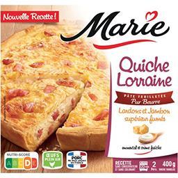 Marie Marie Quiche Lorraine  aux lardons et jambon supérieur fumés  - Pâte feuilletée pur beurre la boîte de 400g