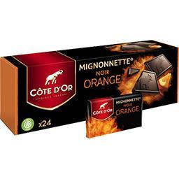 Côte d'Or Côte d'Or Mignonnette noir orange boite de 24 - 240 g