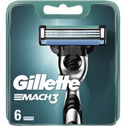 Gillette Gillette Recharges de lames de rasoir pour homme Mach3 Le paquet de 6 lames