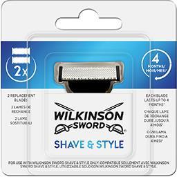 Wilkinson Wilkinson Sword Lames de rechange Shave & Style la boite de 2