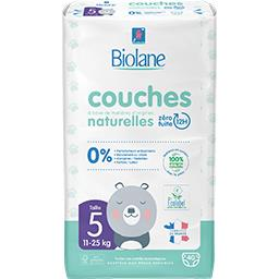 Biolane Biolane Couches bébé naturelles, taille 5 : 11-25 kg le paquet de 40