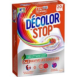 Eau Ecarlate Eau Ecarlate Décolor Stop - Lingettes anti décoloration 2 en 1 Ravive les Couleurs la boite de 20