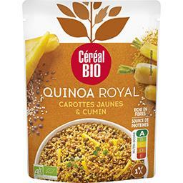 Céréal Bio Céréal Bio Quinoa royal carotte jaune et cumin le sachet de 220g
