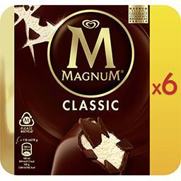 Magnum Magnum Glace classic la boîte de 6 bâtonnets - 474g