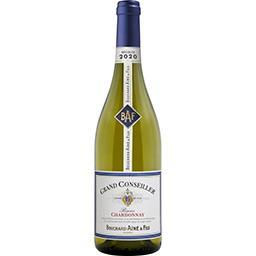 Vin De France Bouchard Aîné & Fils Vin de France Réserve Chardonnay Grand Conseiller, vin blanc la bouteille de 75 cl