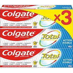 Colgate Colgate Total - Dentifrice Action Visible le lot de 3 tubes de 75 ml