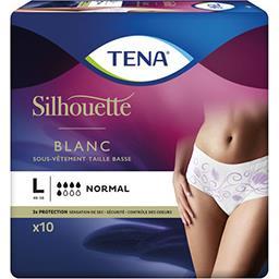 Tena Tena Silhouette - Sous-vêtements taille basse L 46-56 normal blanc le paquet de 10