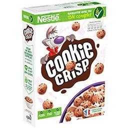 Nestlé Nestlé Céréales Cookie Crisp - Céréales goût biscuit pépites saveur chocolat la boite de 375 g