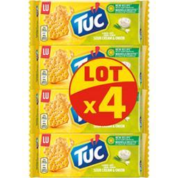 LU LU Tuc - Crackers goût crème-oignon le lot de 4 paquets de 100 g