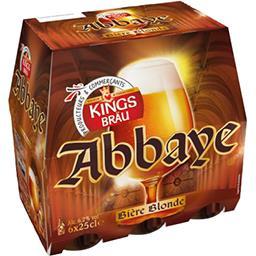 Kingsbräu Kingsbräu Bière blonde d'Abbaye les 6 bouteilles de 25 cl