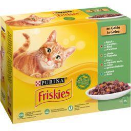 Friskies Friskies Pâtées en gelée viandes et légumes pour chat les 12 sachets de 85 g
