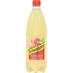 Schweppes Schweppes Soda Agrumes aux saveurs de 4 agrumes la bouteille de 1 l