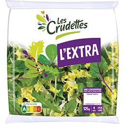 Les Crudettes Les Crudettes Mélange de salades L'Extra le sachet de 125 g