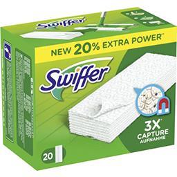 Swiffer Swiffer Recharges lingettes sèches pour balai attrape-poussière La boite de 20 lingettes