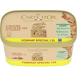 Carte d'Or Carte d'Or Crème glacée caramel à la fleur de sel et morceaux de caramel au lait le bac de 644g