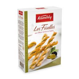 Kambly Kambly Les Ficelles aux olives vertes et noires la boite de 100 g