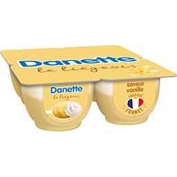Danone Danone Danette - Dessert Le Liégeois saveur vanille les 4 pots de 100 g