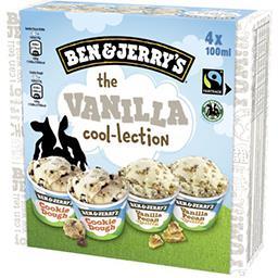 Ben & Jerry's Ben & Jerry's Assortiment de crèmes glacées The Vanilla la boite de 4 pots - 400 ml