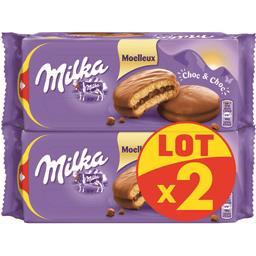 Milka Milka Gâteaux moelleux Choc & Choc les 2 paquets de 175 g