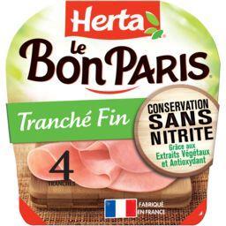 Herta Herta Le Bon Paris - Jambon Tranché Fin la barquette de 4 tranches - 120 g