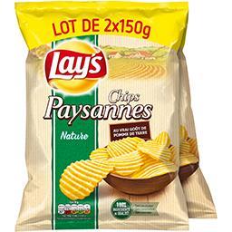 Lay's Lay's Chips paysannes nature les 2 paquets de 150 g