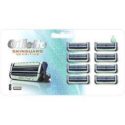Gillette Gillette Recharges de lames de rasoir skinguard sensitive aloe vera Le paquet de 8 lames