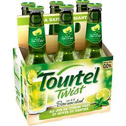 Tourtel Twist Tourtel Twist - Bière sans alcool au jus de citron vert et menthe les 6 bouteilles de 27,5 cl