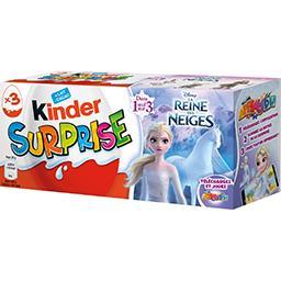 Kinder Kinder Surprise - Œufs chocolat au lait avec surprise La Reine des Neiges les 3 pièces de 20 g